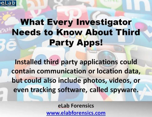 Digital Forensics Investigation: Mobile Devices– Information from Third Party Apps