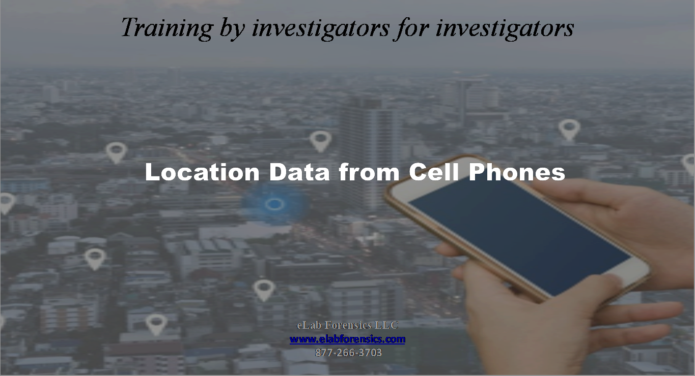 Cell Phone Location Data